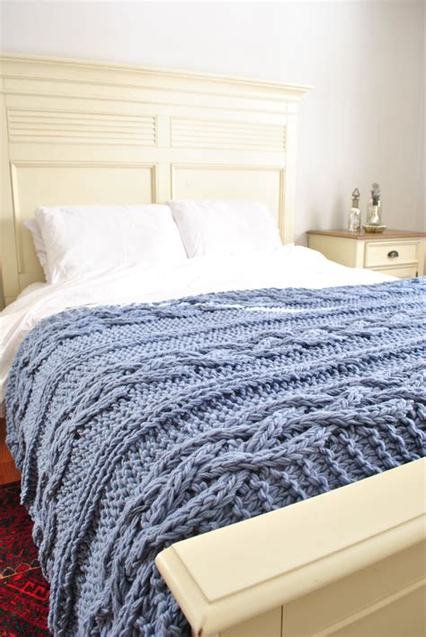 chunky cable knit throw blanket chunky cable knit blanket in light blue cabled by