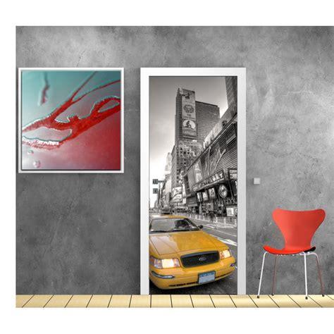 papier peint porte d 233 co taxi new york stickers autocollants