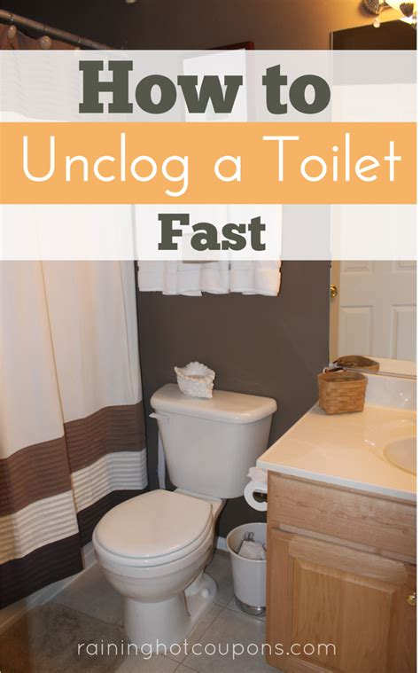 how to unclog a toilet fast