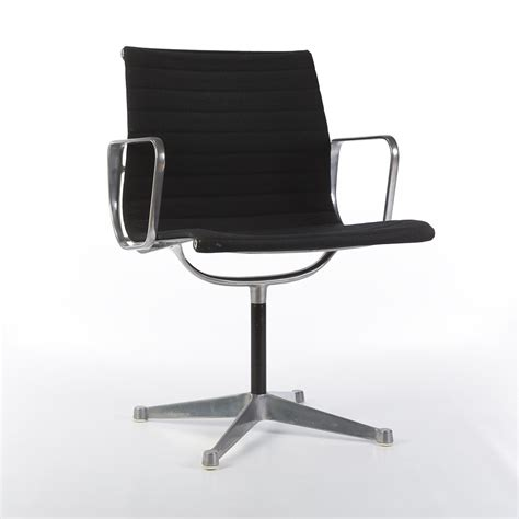 eames low chair original eames low back black ribbed fabric office chairs