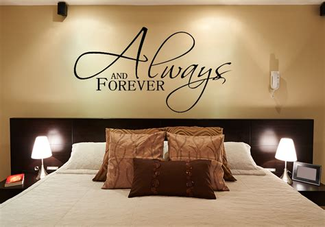 bedroom wall stickers for always and forever wall decals for the bedroom wall