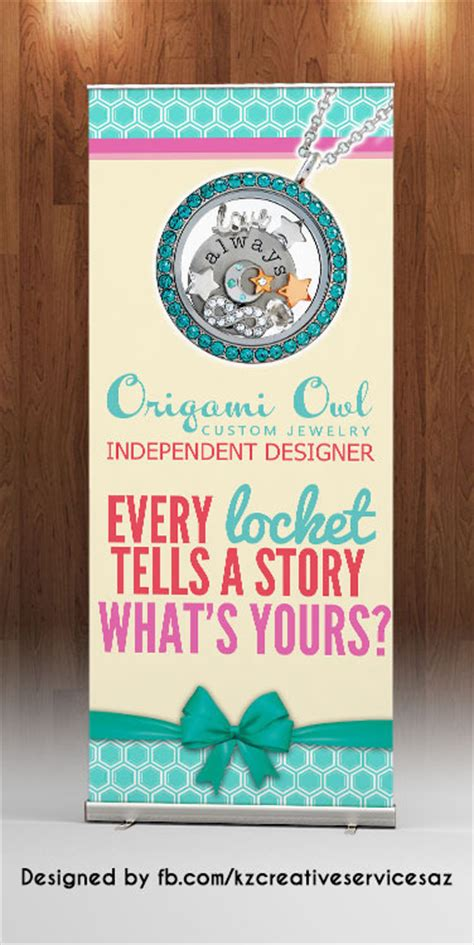 origami owl banner origami owl retractable banner 183 kz creative services