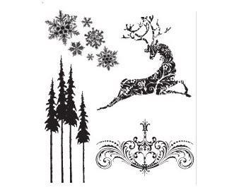 reindeer rubber st sters anonymous tim holtz reindeer flight st set