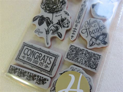 graphic 45 rubber sts graphic 45 time to flourish rubber cling st set 2