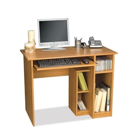 small desk computer bestar basic small wood computer desk in cappuccino cherry