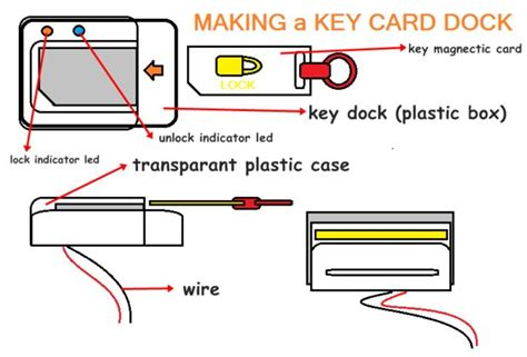 how to make a key card d i y card electric door lock 3