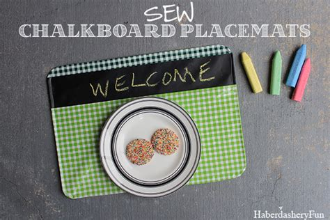diy chalkboard materials diy chalkboard fabric placemats haberdashery