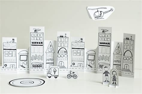 paper craft city made by joel 187 paper city helicopter