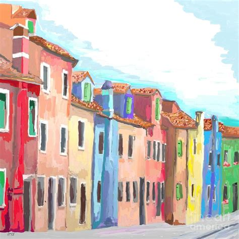 colorfu houses painting colorful houses painting by iris piraino