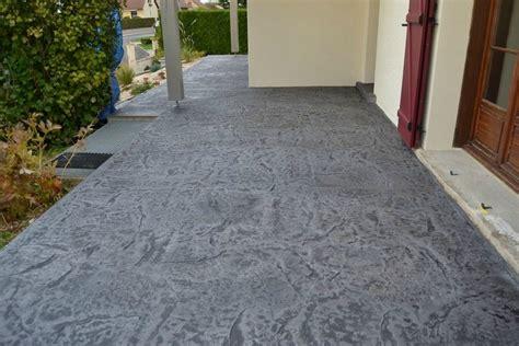 r 233 novation d une terrasse et d un escalier en b 233 ton emprunte sur 1 cm d 233 paisseur innov beton