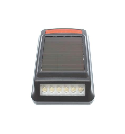 solar strobe light solar powered wireless siren strobe light