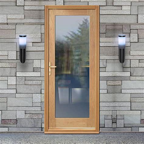 glazed front door and frame part l compliant external shaker 1 pane oak door with