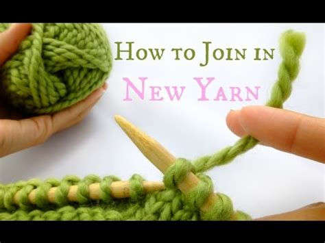 joining in the knitting how to join in new yarn easy knitting tutorial