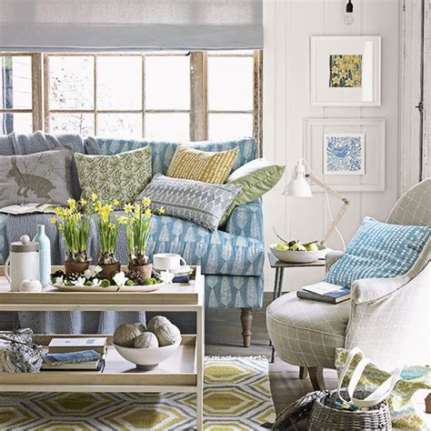 blue sofas living room country living room with blue sofa decorating ideal home