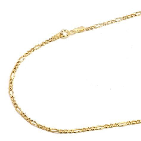 gold chain for jewelry 14k yellow gold 2mm figaro chain necklace