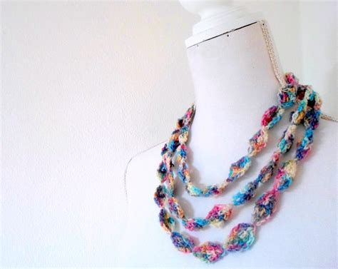 how to make crochet necklace with 10 stash busting crochet necklace patterns craftsy