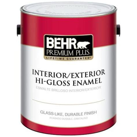 home depot heat resistant paint behr premium plus 1 gal ultra white hi gloss enamel