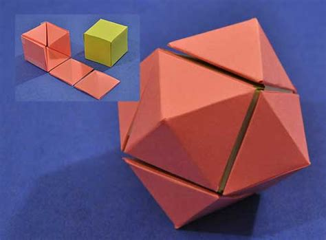 rhombic dodecahedron origami how to turn two cubes into a rhombic dodecahedron ii