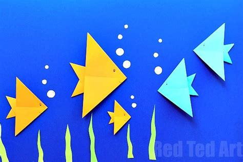 simple fish origami easy origami for ted s