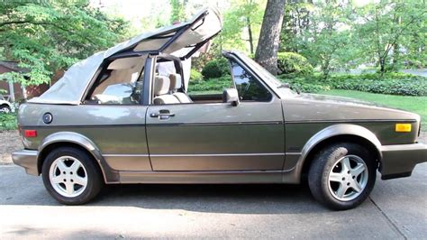 Volkswagen Cabriolet Convertible by Introducing The 1989 Vw Cabriolet Retro Review 89