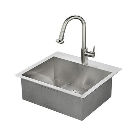 steel kitchen sinks shop american standard 25 in x 22 in single basin