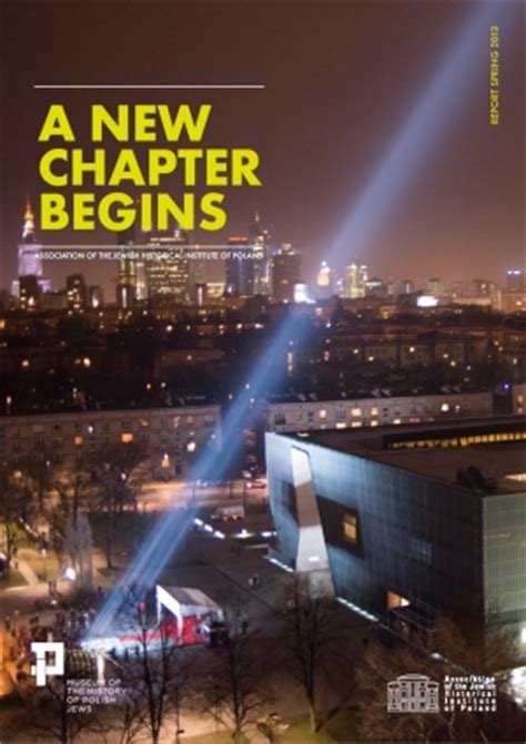new chapter a new chapter begins photo report polin museum of the