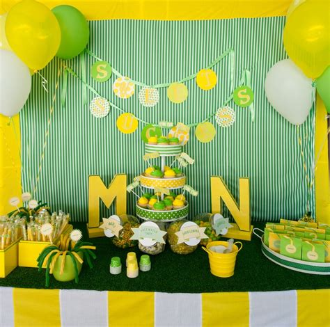 Green And Yellow Table Decorations by Green Yellow Dessert Table Dessert Tables Pinterest