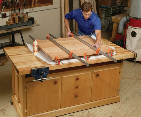 american woodworking build a work bench