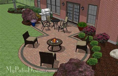 patio with pit designs rectangle patio design with circle pit area 395 sq