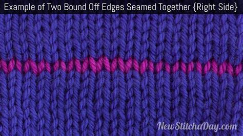 how to seam knitting together how to knit seaming two bind edges together