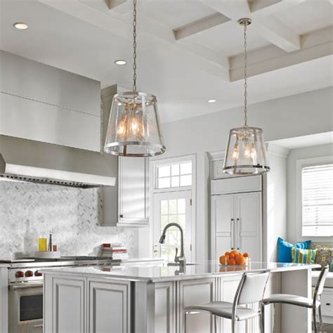 glass kitchen lights how to choose pendant lights for a kitchen island design