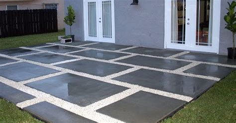 large concrete pavers for patio create a stylish patio with large poured concrete pavers