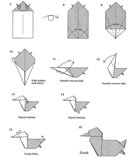 origami duck free coloring pages origami duck 101 coloring pages