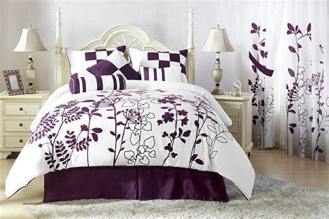 purple and white comforter sets 7pcs renee purple and white bedding comforter set ebay