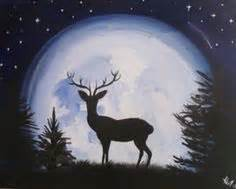 groupon paint nite deer deer painting images painting of a place i like