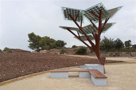 solar trees outdoor solar powered trees provide free wi fi cool water and