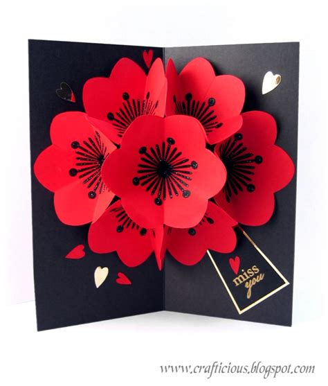 card pop up crafticious pop up card flowers