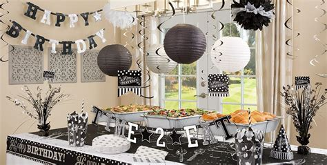 black and white theme black white birthday supplies city