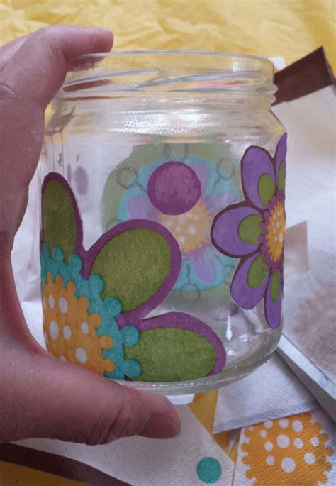 how to decoupage a glass jar how to make a salsa jam or pasta sauce glass jar