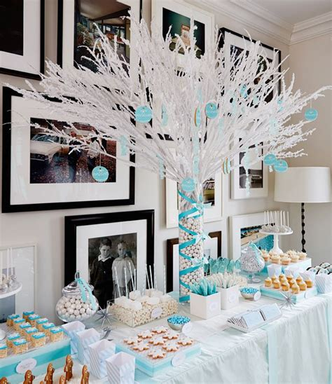 winter wonderland party frozen centerpieces and tables