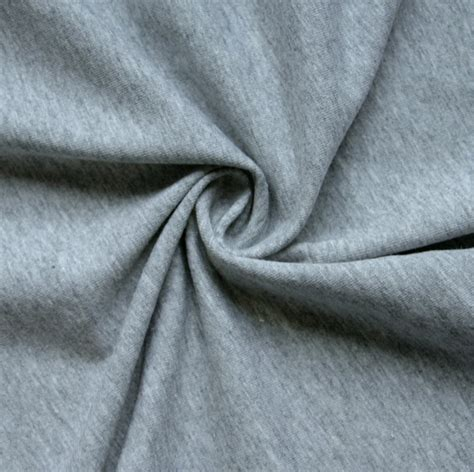 The Fabric Heathered Grey Cotton Lycra Jersey Knit