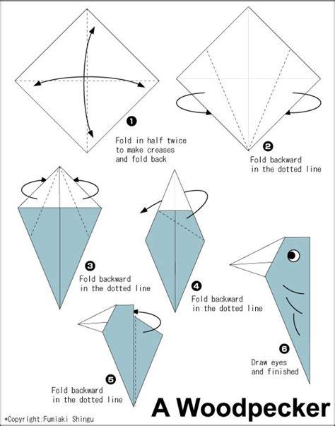 easy origami club origami woodpecker easy origami for