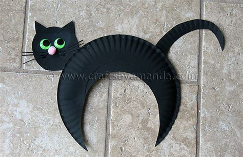 cat craft projects paper plate black cat kid s craft
