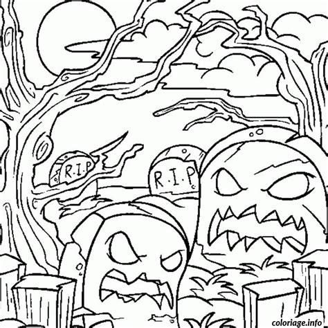 coloriage halloween monstre jecolorie com