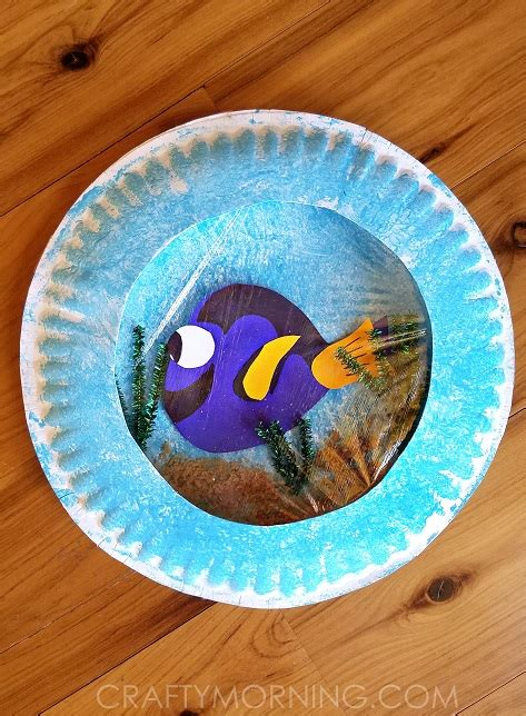 paper plate crafts for finding dory paper plate craft crafty morning