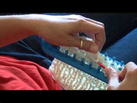 how to cast on a knitting loom knifty knitter loom cast for panel knit