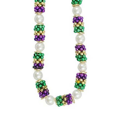 mardi gras bead handstrung mardi gras pearl cluster bead necklace cst031r