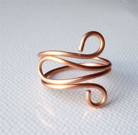 how to make rings out of wire and rings formed copper wire ring a unique product by