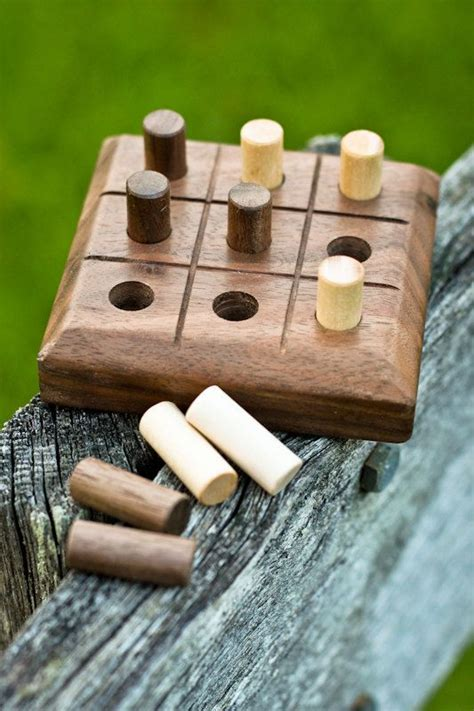 woodworking for boys handmade wooden tic tac toe walnut by