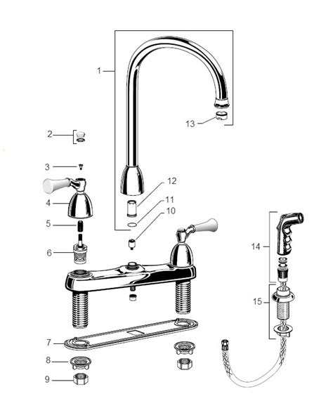 american standard kitchen faucets parts order replacement parts for american standard 4271 standard collection two handle top mount